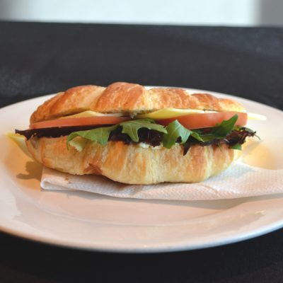 cheese and tomato croissant