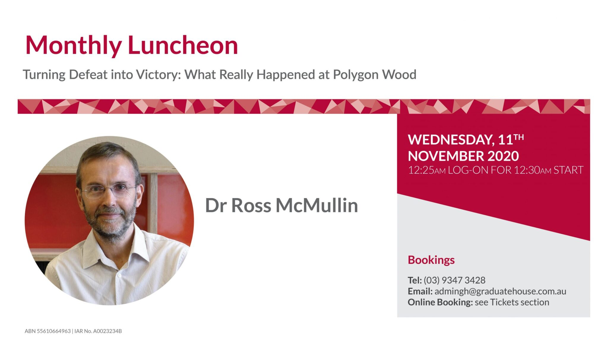 Special Event with Ross Mcmullin