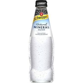 Schweppes natural mineral water 300ml