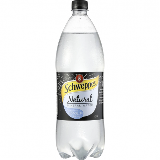 Schweppes natural mineral water 1.25L